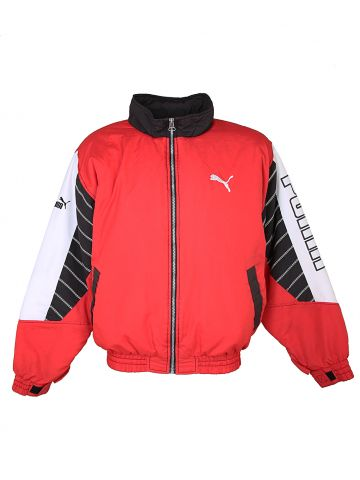 Red Padded Puma Logo Jacket - L