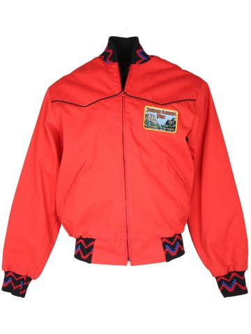 90s Cotton Harrington Style Rodeo Bomber Jacket - L