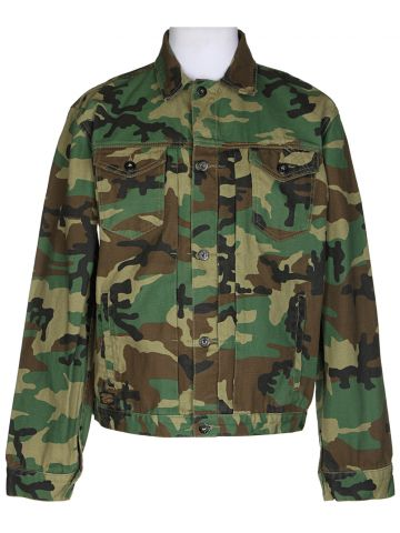 "Green Camo Denim Jacket ?€"" XL"
