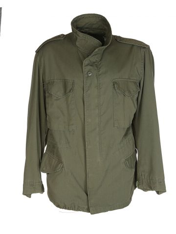 US Army Khaki Green Military Field Jacket - L