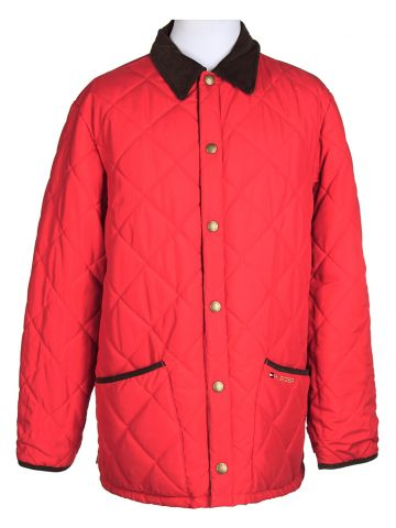 "Tommy Hilfiger Reversible Red Quilted Jacket ?€"" XL"