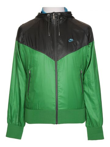 Nike Green & Grey Windbreaker Jacket - L