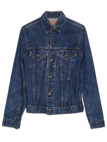 Vintage 60s Big E Levi's Blue Denim Trucker Jacket - XS