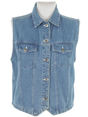 Blue Denim Sleeveless Jacket - C40