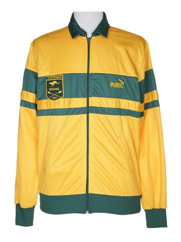 80s Yellow Puma Track Jacket - S