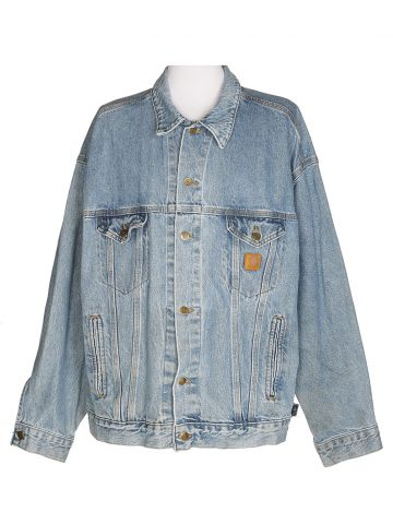 80s Carhartt Blue Denim Jacket - XL