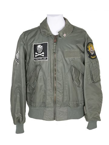 80s US Navy Flying Jacket w/ Patches - M