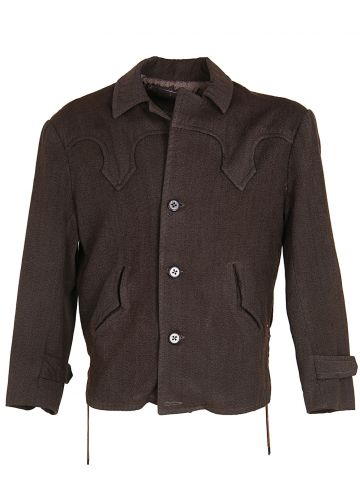 Vintage 50's Western Style Wool Sports Jacket - M