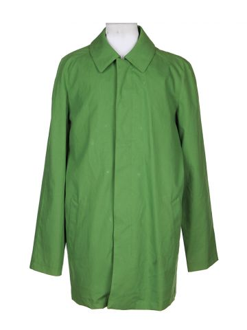 Vintage Green Mac Coat - XXL