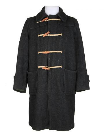 Vintage 1960's Traditional Duffer Grey Duffle Coat - M