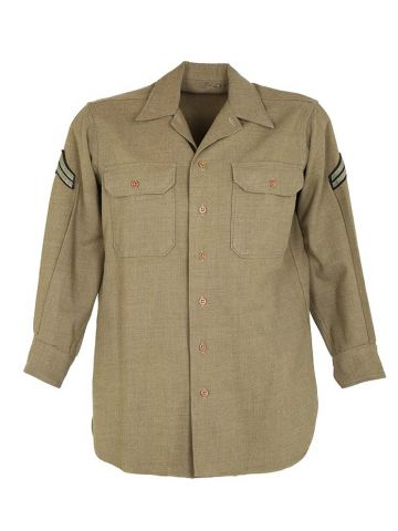 Vintage 40s Wool US Army Military Utility Shirt - L