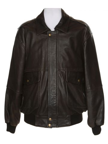 Black Leather Pilot's Jacket