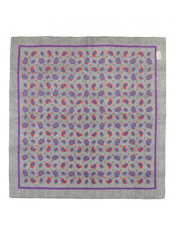 Sarah Coventry Grey Paisley Scarf
