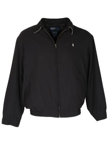 Black Ralph Lauren Polo Harrington Jacket - M