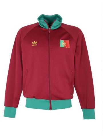Adidas Portugal Football Burgundy Track Jacket - L