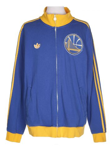 Adidas Blue & Yellow Track Jacket - XL