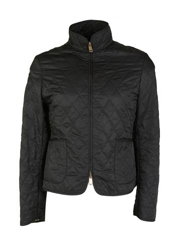 Burberry Black Quilted Jacket - L