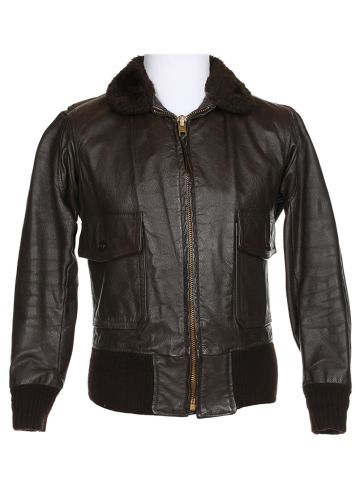 Startown G1 Style Brown Leather Flight Jacket - M