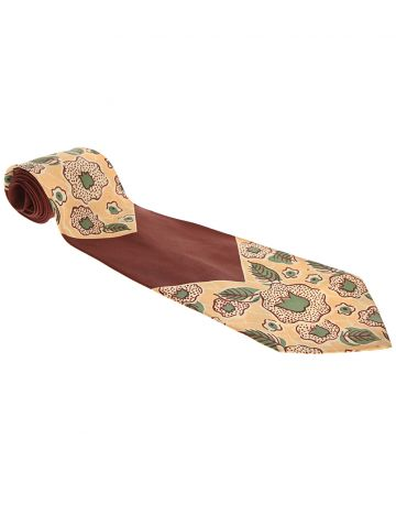 Vintage 1940s Silk Collegiate Printed Swing Tie
