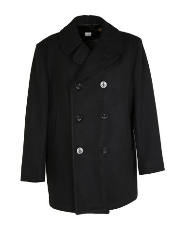 80s US Navy Pea Coat - L