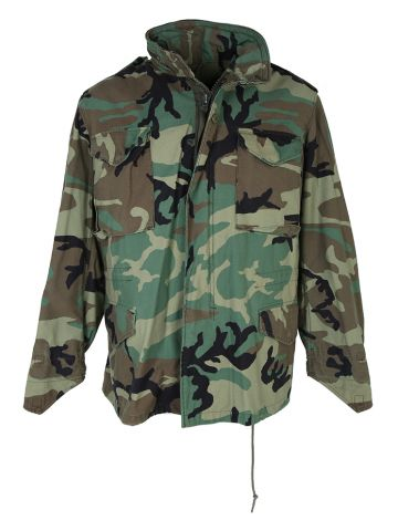 90s Cold Weather Woodland Camo Field Jacket - M