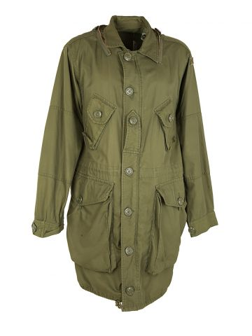80s Canadian Army Long Parka Shell - C48
