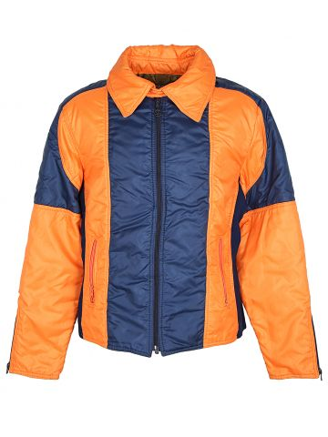 70s Orange and Navy Ski Jacket -  L