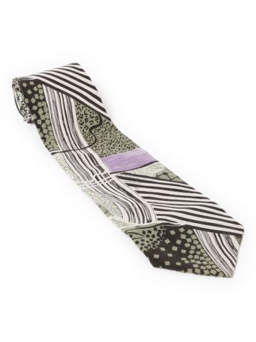 40s Graphic Art Print Tie