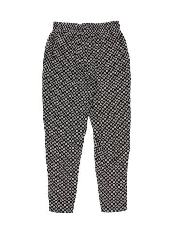 Black Patterned Rayon Trousers - W29