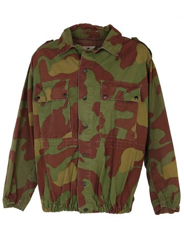 60s Italian Paratrooper Green Camouflage Jump Jacket - XL