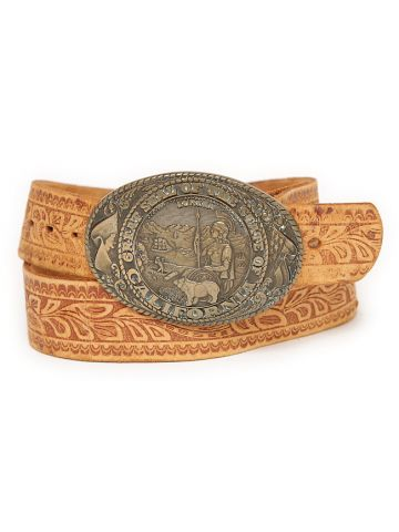 80s Tony Lama Tan Leather Belt
