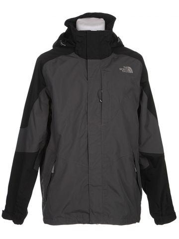 The North Face Grey & Black Waterproof Jacket - L