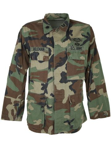 US Army Camouflage Woodland Shirt - M