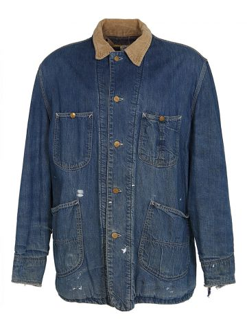 Vintage 50s Lee 81-LJ Mid Blue Blanket Lined Work Denim Jacket - XL