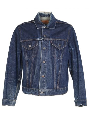 Vintage 60s Levi's Big E Indigo Denim Trucker Jacket - L