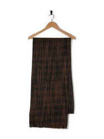90s Pierre Cardin Brown Knitted Scarf