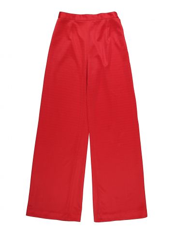 60s 70s Handmade Dark Red Flared Trousers - XS