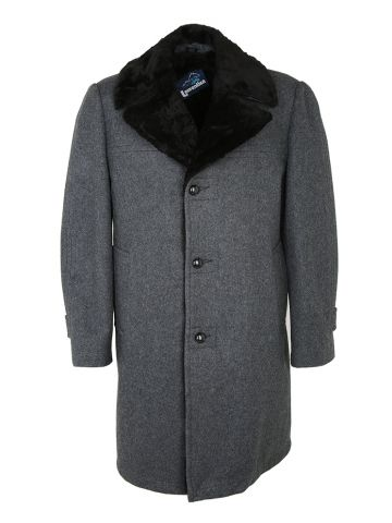 Vintage 70s Grey Wool Coat - M