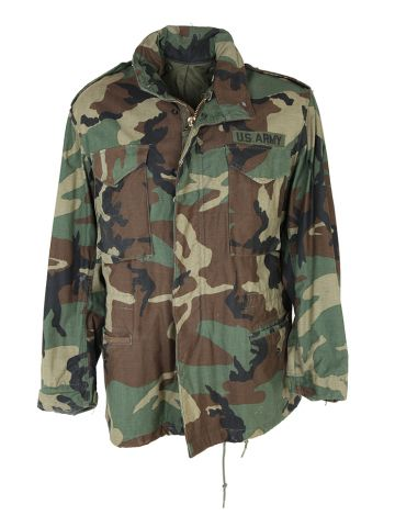 1985 M-65 Field Jacket in Woodland Camo - M
