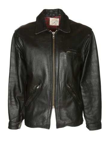 60s Australian Leather Motorcycle Jacket