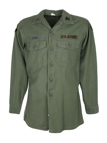 1968 Vietnam War Era US Army Green Shirt - M