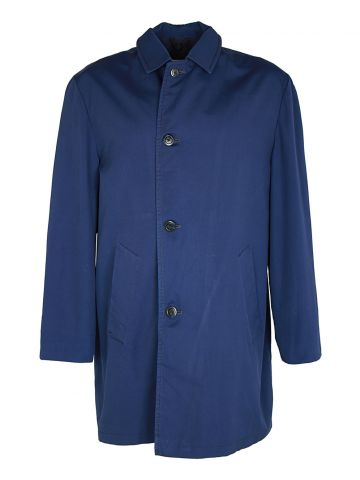 60s Navy Blue Over Coat - L