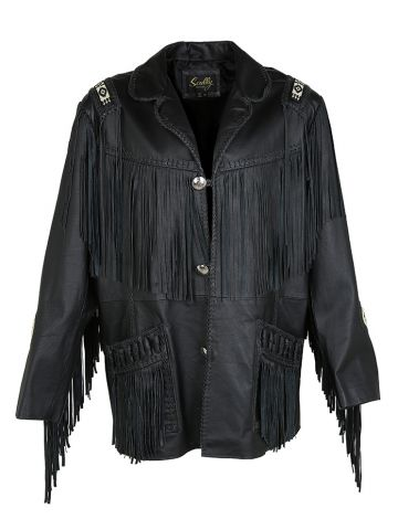 Vintage Scully Western Beaded Embellished Jacket with Tassels - XL