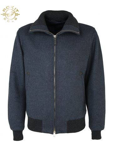 Gucci Grey Wool Bomber Jacket - L