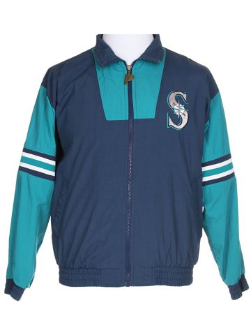 90s Seattle Mariners Blue Shell Suit Jacket - XS