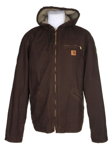 Vintage Carhartt Brown Fleece Lined Workwear Jacket – XL