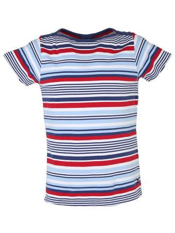 90s Tommy Hilfiger Tri Colour Striped T Shirt - L
