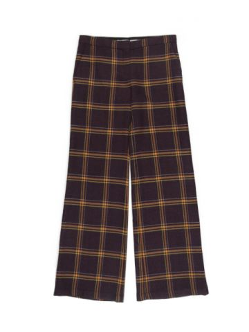Sportmax Purple Plaid Wool Trousers - M