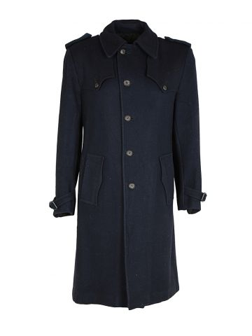 70s Sears Navy Overcoat - M