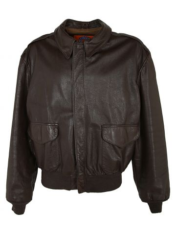 COOPER TYPE A-2 BROWN LEATHER FLIGHT JACKET - XL